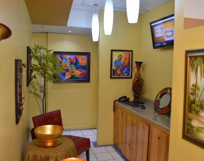 Exclusive dental care interior view